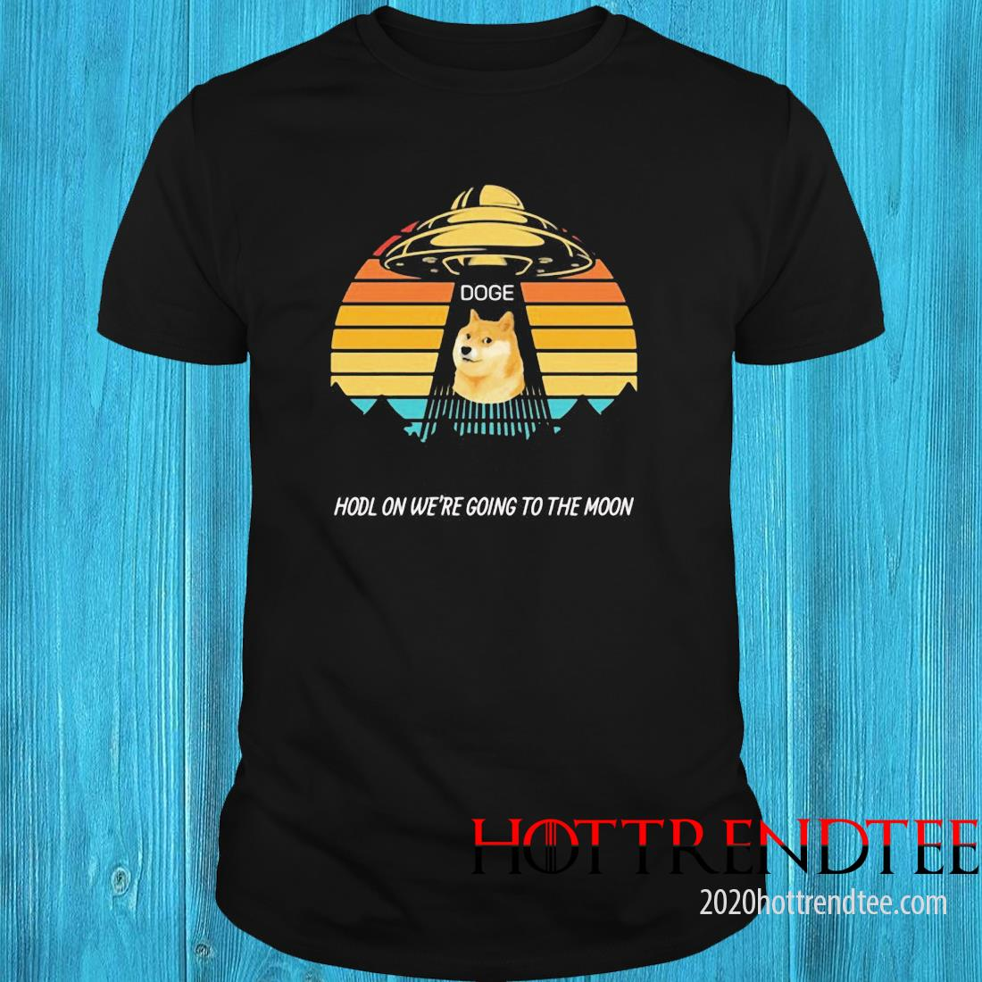 Dogecoin Shirt Hold On We're Going To The Moon Crypto Vintage Shirt