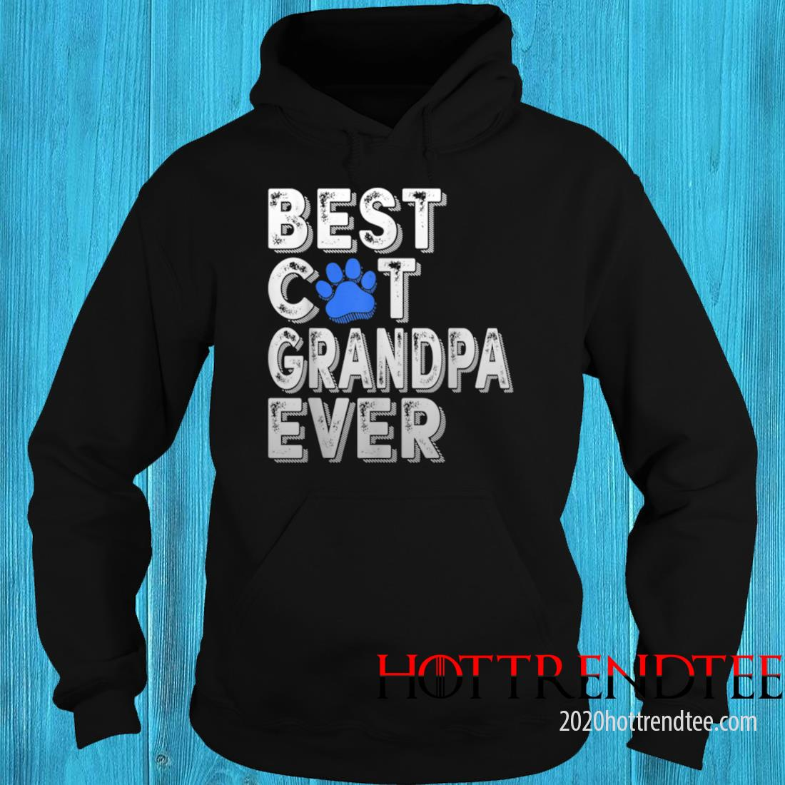 Men's Best Cat Grandpa Ever Tee Funny Family Father's Day Shirt hoodie