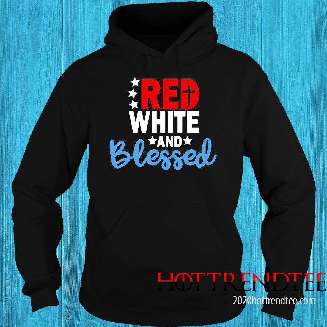 Red White And Blessed American Shirt hoodie