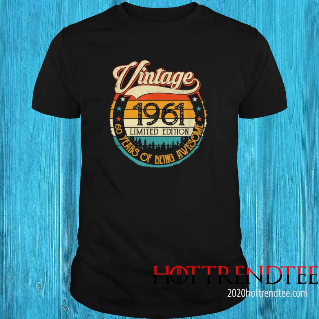 Vintage 1961 60th Birthday 60 Years Old Bday Birthday Queen Shirt