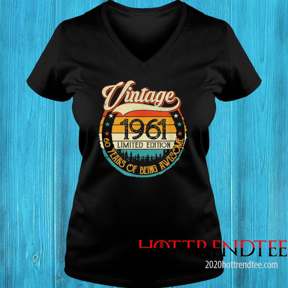 Vintage 1961 60th Birthday 60 Years Old Bday Birthday Queen Shirt v-neck tee
