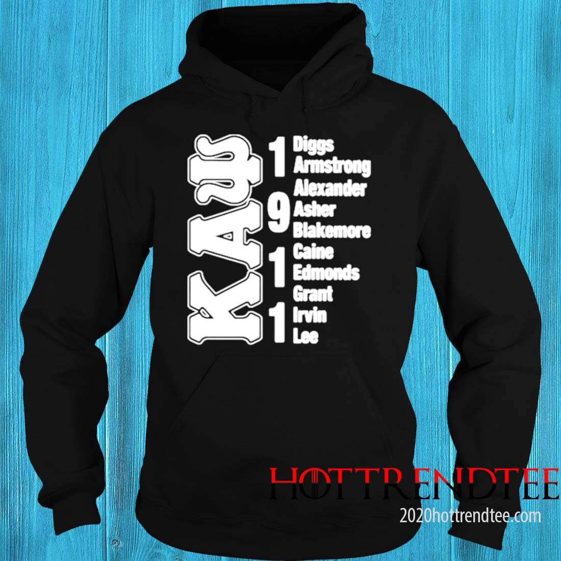 Kaw Diggs Armstrong Alexander Caine Edmonds Grant Irvin Lee 1911 Shirt hoodie